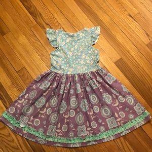 Matilda Jane Platinum Flutter Dress - Size 12